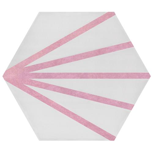 Tomette dandelion ligne rose PATH LINEA ROSA 23x26.5 cm - 0.75m² Bestile