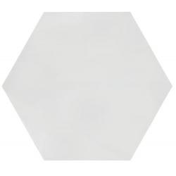 Tomette unie blanche PATH WHITE 23x26.5 cm - 0.75m² Bestile