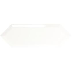 Faience navette biseautée blanche brillant 10x30 PICKET BEVELED SNOW - 1m² Ribesalbes