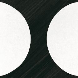 Carrelage imitation ciment 20x20 cm CAPRICE DECO MOONLINE B&W 22126- 1m² Equipe