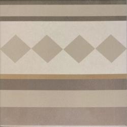 Carrelage imitation ciment beige taupe 20x20 cm CAPRICE LOIRE BORDURE 20936 - 1m² Equipe