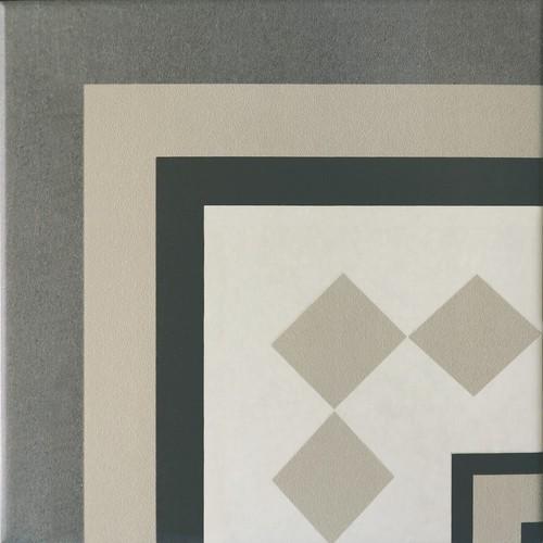 Carrelage imitation ciment cube gris blanc 20x20 cm CAPRICE PROVENCE ANGLE - unité - zoom