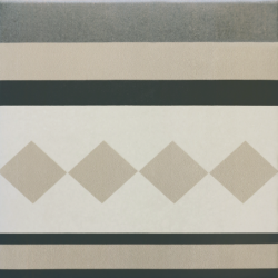 Carrelage imitation ciment cube gris blanc 20x20 cm CAPRICE PROVENCE BORDURE - 1m² Equipe
