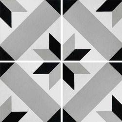 Carreau de ciment décor géométrique gris 20x20 cm ref1150-7 - 0.48m²
