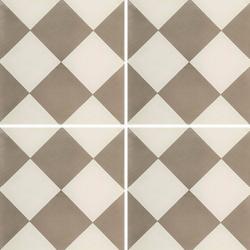 Carreau de ciment damier gris et blanc 20x20 cm ref310-1 - 0.48m² Carreaux ciment véritables