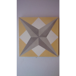 Carreau de ciment étoile jaune géométrique 20x20 cm ref7210-1 - 0.48m² Carreaux ciment véritables