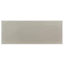 Plinthe de carreau de ciment véritable unie CENDRE 10x20 cm - 4mL