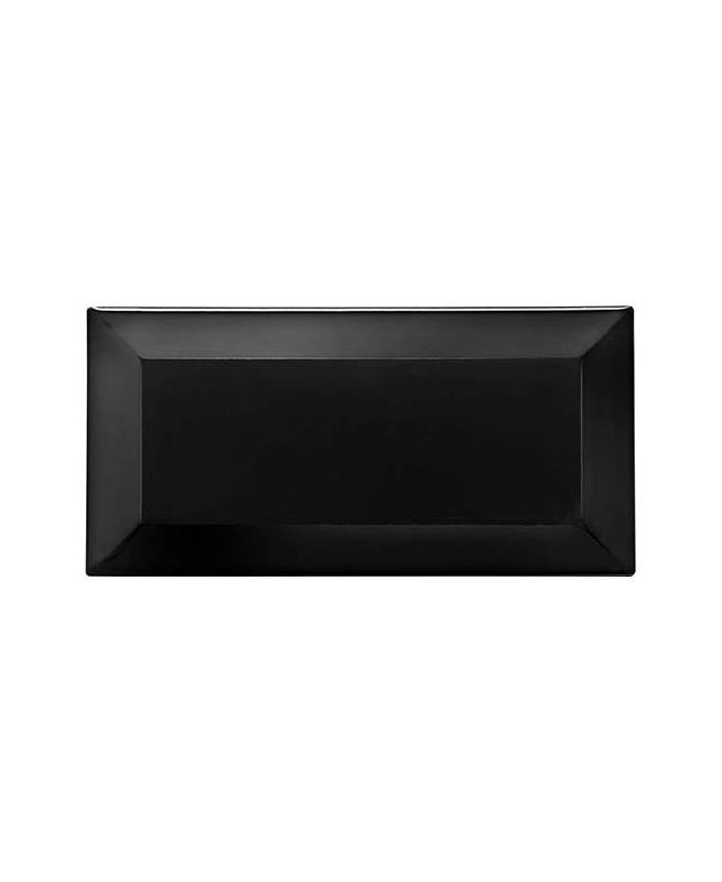 Carreau métro grès cérame noir LAVA 7,5x15 cm - 1 m² CE.SI