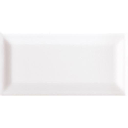 Carreau métro grès cérame blanc TALCO 7,5x15 cm - 1 m² CE.SI