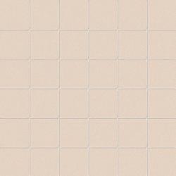 Carrelage uni beige 5x5 cm CANAPA MATT sur trame- 1m²