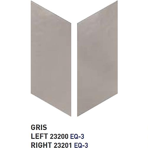 Chevron uni sol ou mur 9x20.5 cm GRIS - 1m² Equipe