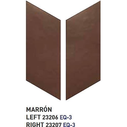 Chevron uni sol ou mur 9x20.5 cm MARRON - 1m² Equipe