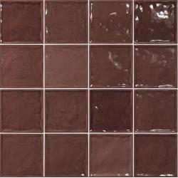 Carrelage effet zellige marron 15x15 CHIC BURDEOS - 1m² El Barco