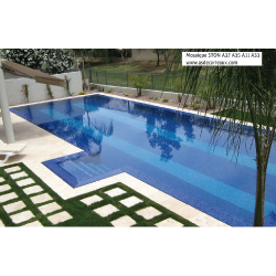 Mosaique piscine Bleu A33 20x20mm - 2.14m² Ston