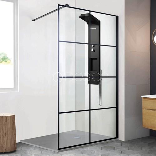 Paroi de douche style atelier fixe 1 panneau - CLUB 100 cm - zoom