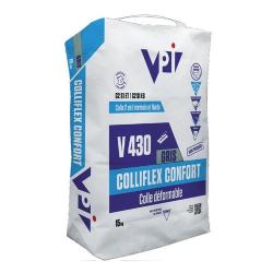 Colle carrelage facile COLLIFLEX CONFORT V430 GRIS - 15 kg