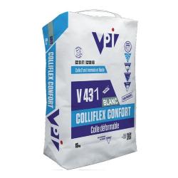 Colle carrelage facile COLLIFLEX CONFORT V431 BLANC - 15 kg
