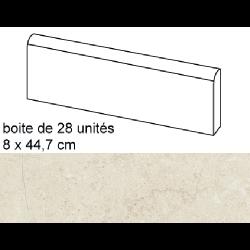 Plinthe intérieur Concrete Bone 8x44.7 cm - 12.52mL Baldocer