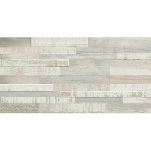 Carrelage imitation bois clair rect 30x60 DECK WISCONSIN SUMMER MIX - 1.08m² - zoom