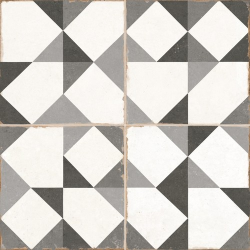 Carrelage triangle vintage gris OLD SCHOOL NIENKE 45x45 cm - 1.42m²