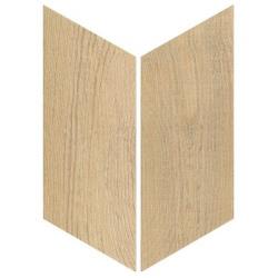 Chevron imitation bois sol ou mur 9x20.5 cm HEXAWOOD NATURAL - réf. 21657-21658 - 1m²