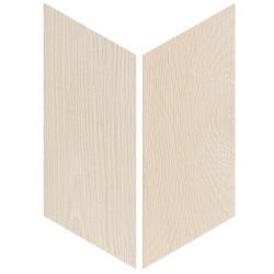 Chevron imitation bois sol ou mur 9x20.5 cm HEXAWOOD WHITE - réf. 21651-21652 - 1m²