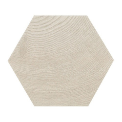 Carrelage aspect bois 17,5x20cm Tomette HEXAWOOD GREY 21627 - 0.71m² Equipe
