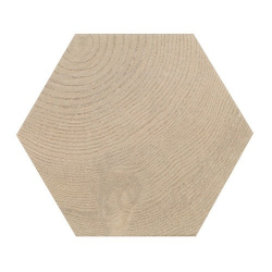 Carrelage aspect bois 17,5x20cm Tomette HEXAWOOD TAN 21628 - 0.71m² Equipe