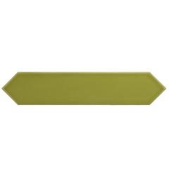 Faience navette crayon vert pomme brillant 5x25 cm ARROW APPLE 25828 - 0.50 m² Equipe