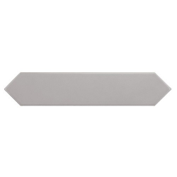 Faience navette crayon gris brillant 5x25 cm ARROW QUICKSILVER 25833 - 0.50 m² Equipe