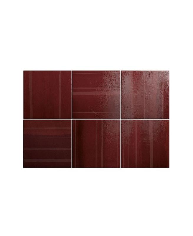 Faience nuancée pourpre 20x20 cm CALA DECOR BLOOD 25397 - 1m² Equipe