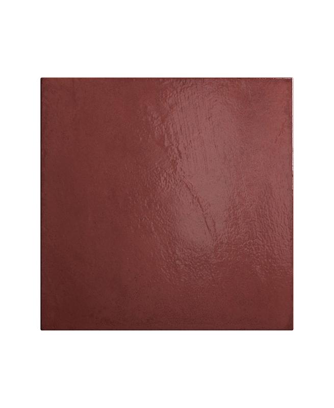 Faience vintage pourpre 20x20 cm HABITAT BLOOD 25387 - 1m² Equipe