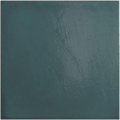 Faience vintage bleue 20x20 cm HABITAT GLACIER 25388 - 1m² - zoom