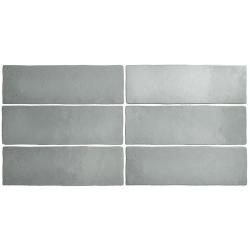 Faience dénuancée gris 6.5x20 cm MAGMA GREY STONE 24960 - 0.5m² Equipe