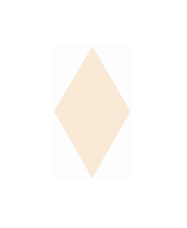 Faience losange crème brillant 15x26cm RHOMBUS WALL CREAM 22749 - 1m² Equipe