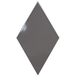 Faience losange gris anthracite brillant 15x26cm RHOMBUS WALL DARK GREY 22751 - 1m² Equipe