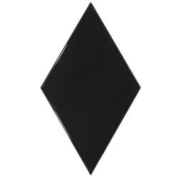 Faience losange noir brillant 15x26cm RHOMBUS WALL BLACK 22748 - 1m² Equipe