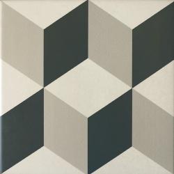 Carrelage imitation ciment cube gris blanc 20x20 cm CAPRICE PROVENCE 20938 - 1m²