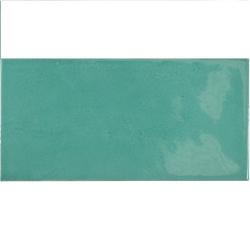 Faience effet zellige bleu turquoise 6.5x13.2 VILLAGE TEAL 25573 - 0.5 m² Equipe