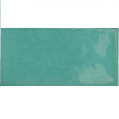 Faience effet zellige bleu turquoise 6.5x13.2 VILLAGE TEAL 25573 - 0.5 m² - zoom