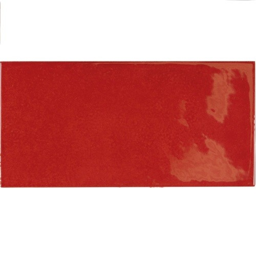 Faience effet zellige rouge 6.5x13.2 VILLAGE VOLCANIC RED 25581 - 0.5 m² Equipe