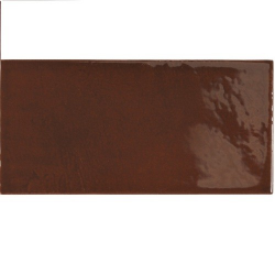 Faience effet zellige marron 6.5x13.2 VILLAGE WALNUT BROWN 25627 - 0.5 m² - zoom
