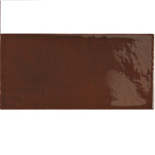 Faience effet zellige marron 6.5x13.2 VILLAGE WALNUT BROWN 25627 - 0.5 m² Equipe