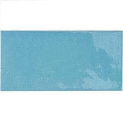 Faience effet zellige bleu azur 6.5x13.2 VILLAGE AZURE BLUE 25629 - 0.5 m² Equipe