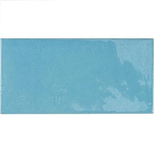 Faience effet zellige bleu azur 6.5x13.2 VILLAGE AZURE BLUE 25629 - 0.5 m² - zoom