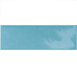 Faience effet zellige bleu azur 6.5x20 VILLAGE AZURE BLUE 25651 - 0.5m² Equipe