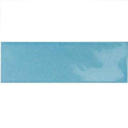 Faience effet zellige bleu azur 6.5x20 VILLAGE AZURE BLUE 25651 - 0.5m² - zoom
