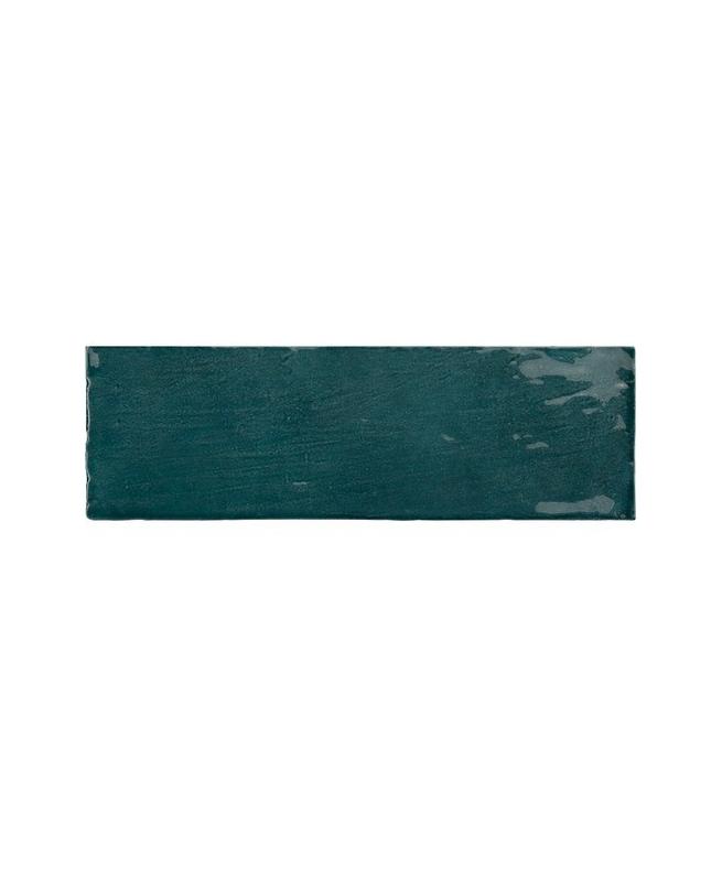 Esprit zellige Faience nuancée effet zellige bleu canard 6.5x20 RIVIERA QUETZAL 25845- 0.5 m² ...