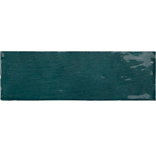 Faience nuancée effet zellige bleu canard 6.5x20 RIVIERA QUETZAL 25845- 0.5 m² Equipe