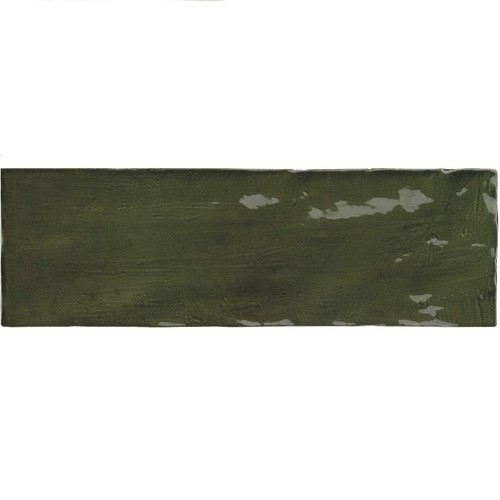 Faience nuancée effet zellige vert 6.5x20 RIVIERA BOTANICAL GREEN 25847 - 0.5 m² Equipe